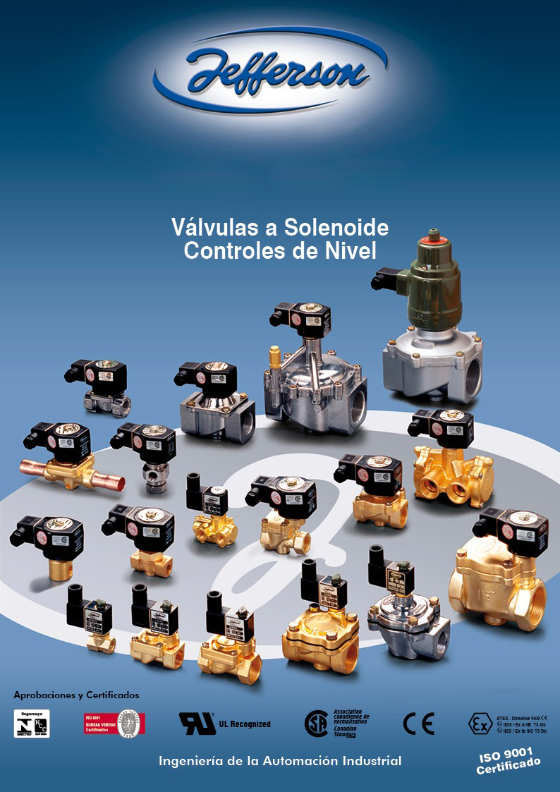 Jefferson: Válvulas solenoide Controles nivel